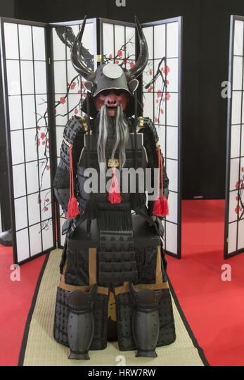 Armor of a Japanese Samurai - Stock Image