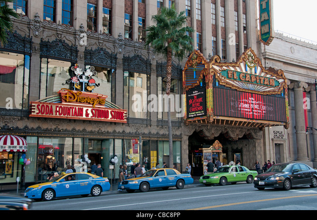 Hollywood Boulevard California United States of America American USA Town City - Stock Image