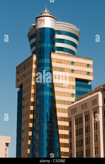 Bahrain, Manama, Bahrain Financial Harbor, high rise towers, modern architecture - Stock Image