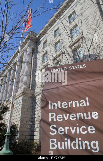 Washington DC Federal Triangle Pennsylvania Avenue Historic District Internal Revenue Service IRS government office - Stock Image