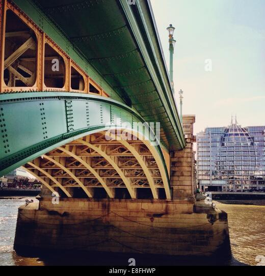 United Kingdom, London, Greater London, Southwark Bridge - Stock Image