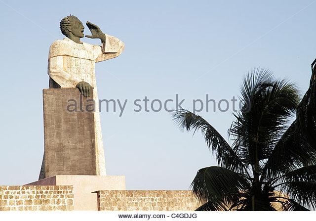 Santo Domingo Dominican Republic Ciudad Colonia Caribbean Sea Fray Antonio de Montesinos Dominican friar statue - Stock Image