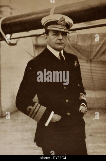 Admiral David Beatty, Admiral of the Fleet David Richard Beatty. - Stock Image