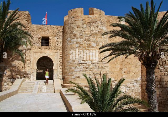 Castle Bordj el Kebir, Houmt Souk, Island of Jerba, Tunisia, North Africa, Africa - Stock Image