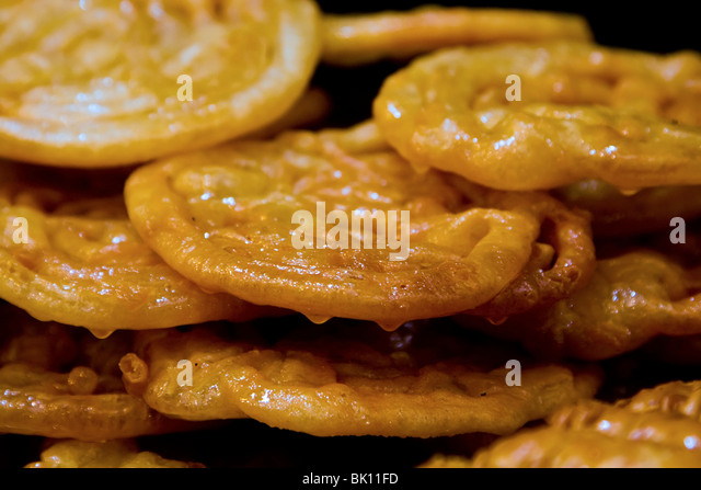 Zalabia - sweet dessert from the Middle East - Stock Image