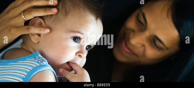 Loving Mother and baby - Stock Image