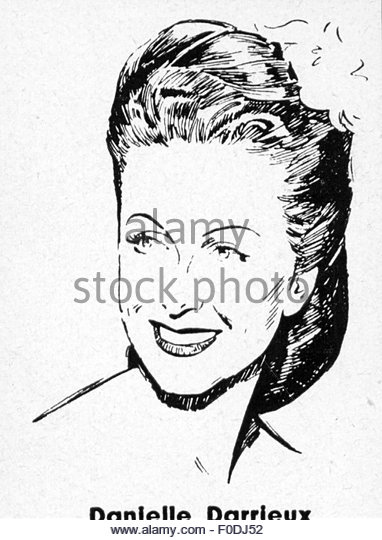 Danielle Darrieux, 1940s - Stock Image
