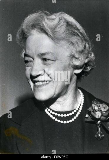 Nov. 09, 1963 - For the first time in the history of the United States, a women could be a presidential candidate. - Stock Image