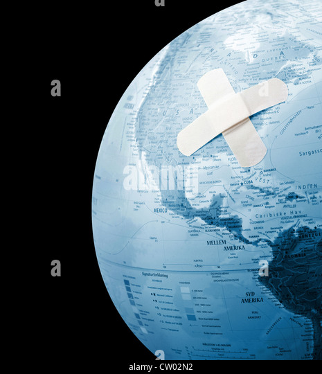 A wounded Earth - Stock Image