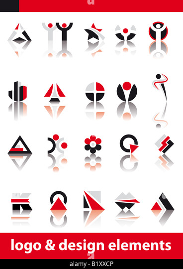 Abstract vector illustration of logo and design elements - Stock-Bilder