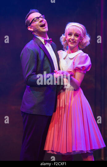 London, UK. 15 September 2015. Pictured: Ben Forster as Brad and Helen Flaherty as Janet. The Rocky Horror Show, - Stock Image