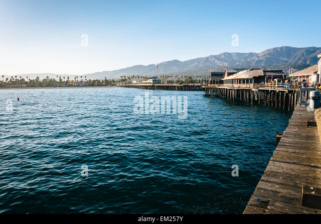 Stearns Wharf In Santa Barbara Stock Photos Amp Stearns Wharf In Santa Barbara Stock Images Alamy