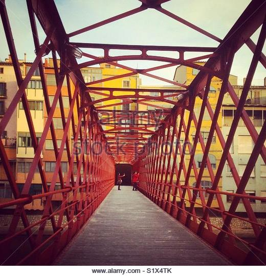 Bridge in Girona, Cataluña - Stock Image