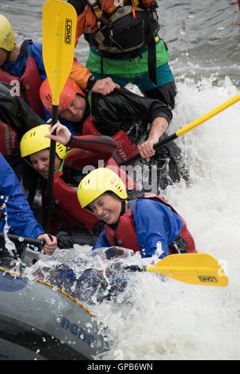 Nene Valley Whitewater  canoeing  Centre  NORTHAMPTON  UK - Stock Image
