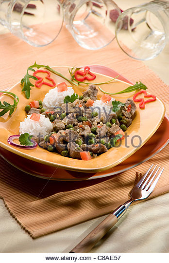 Express spicy lamb stew - Stock Image