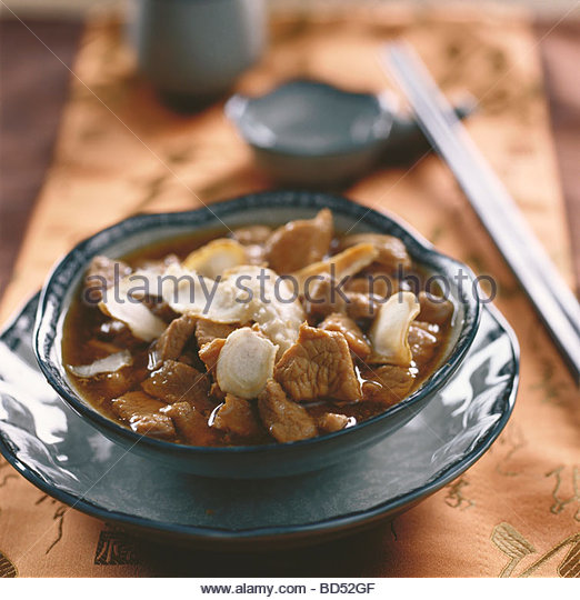 Mutton with ginseng and Alstralagus root - Stock Image