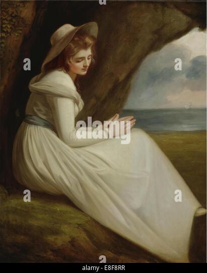 Emma, Lady Hamilton. Artist: Romney, George (1734-1802) - Stock Image