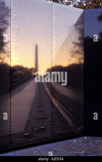Vietnam Veterans Memorial in Washington, D.C. - Stock Image