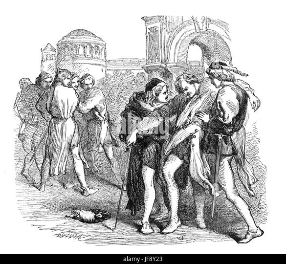 the guilt of tybalt for the death of romeo and juliet in the play by william shakespeare But with a rear-ward following tybalt's death, 'romeo  legend and biblical thoughts the factor of romeo and juliet  why did shakespeare write romeo.