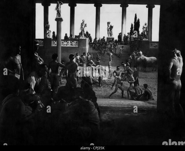 Gladiator school in Ancient Rome - Stock Image