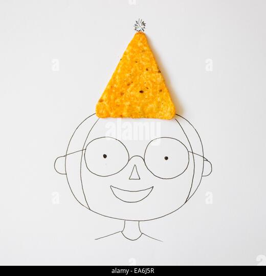 Conceptual boy wearing hat - Stock-Bilder