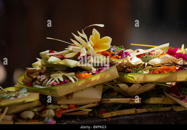 Carang - Balinese offerings to the Gods - Stock Image