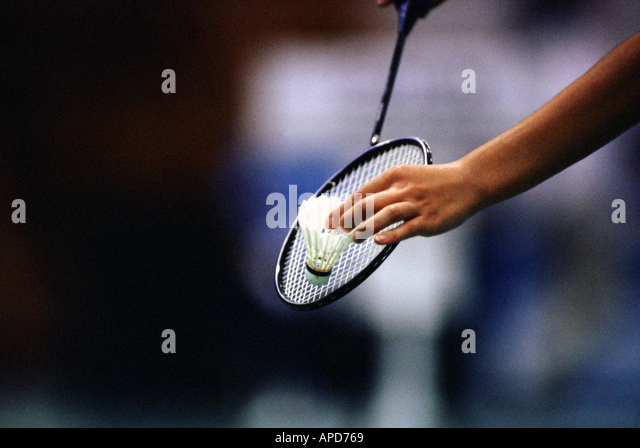 Sport Racket Sports Badminton - Stock Image
