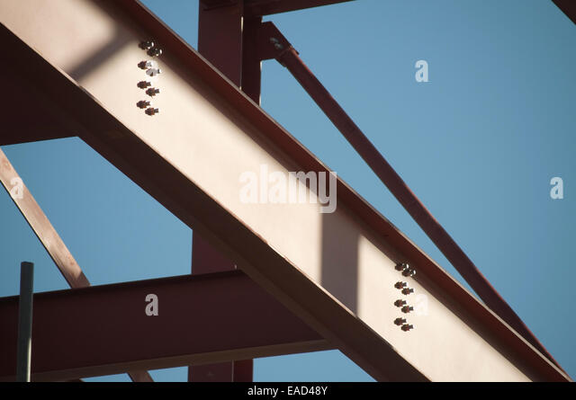 Building Frame Bolt : Steel framed stock photos images alamy