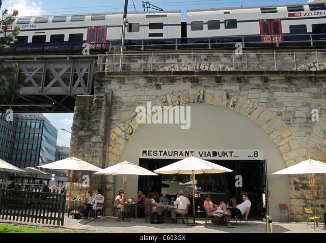 Viadukt 8 Restaurant Kreis 5, Switzerland Zurich, - Stock Image