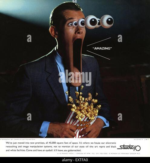 1990s UK Studio 10 Magazine Advert - Stock Image