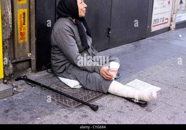begging is a curse Begging (also panhandling or mendicancy) is the practice of imploring others to  grant a favor, often a gift of money, with little or no expectation of reciprocation.