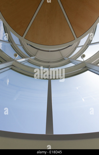 Ruth Cawker contemporary building office atrium - Stock Image