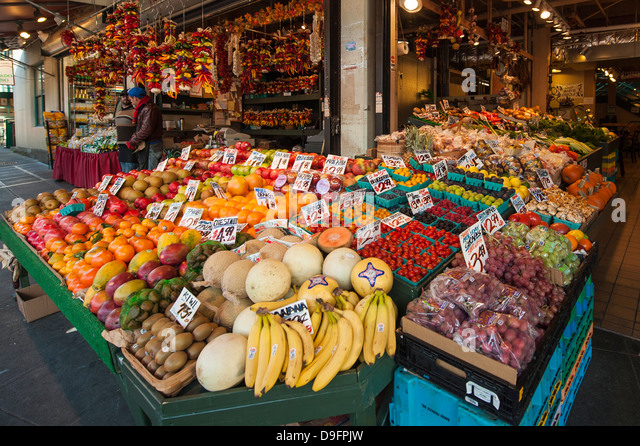 Pikes Place Market, Seattle, Washington State, USA - Stock Image