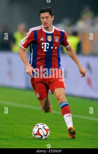 Friendly match, German Bundesliga, MSV Duisburg vs FC Bayern München, Muenchen, new FCB forward Robert Lewandoswki - Stock-Bilder