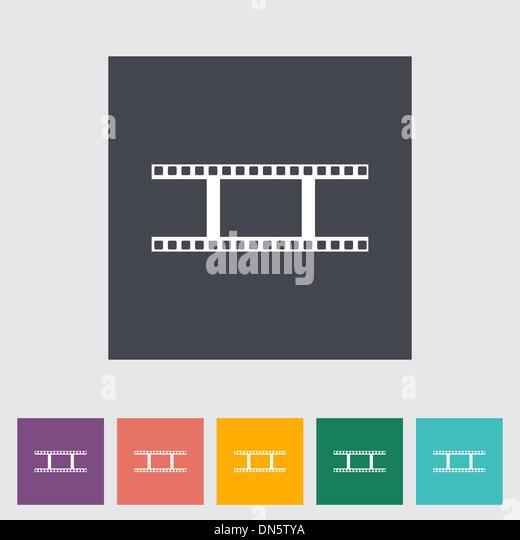 Film Frame Icon Flat Color Stock Photos & Film Frame Icon ...