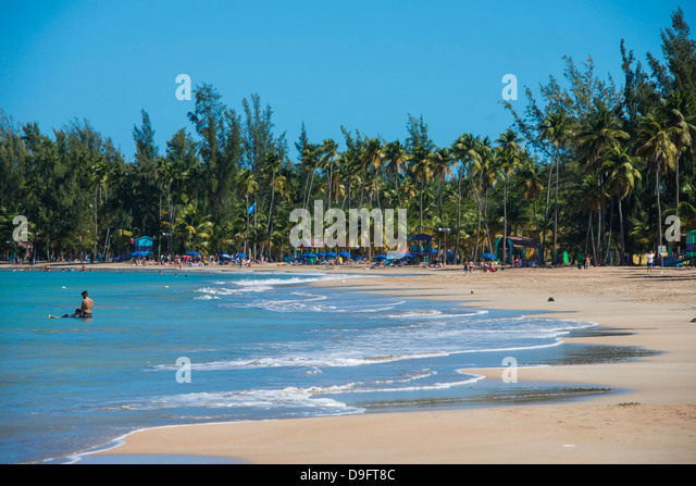 Luquillo Beach, Puerto Rico, West Indies, Caribbean - Stock Image