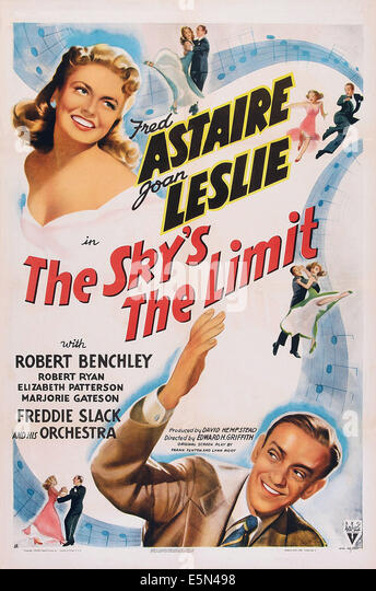 THE SKY'S THE LIMIT, top left: Joan Leslie, bottom right: Fred Astaire, 1943. - Stock Image