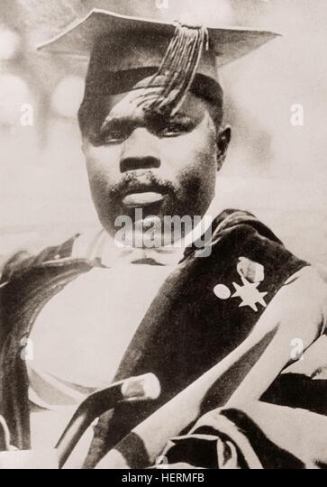 Marcus Mosiah Garvey, Jr., 1887 – 1940.  Jamaican political leader, publisher, journalist, entrepreneur, orator - Stock Image