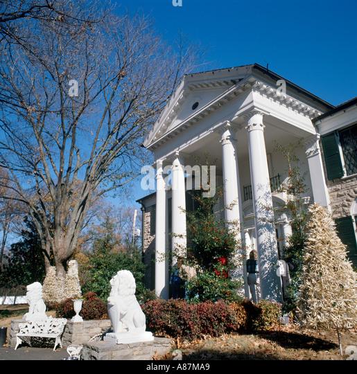 Elvis Presley Mansion, Graceland, Memphis, Tennessee, USA - Stock Image