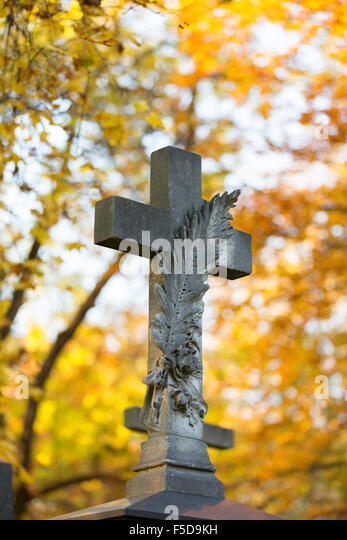 Grave at 'Alter Suedfriedhof' in Munich (Muenchen), Bavaria (Bayern), Germany (Deutschland) - Stock-Bilder