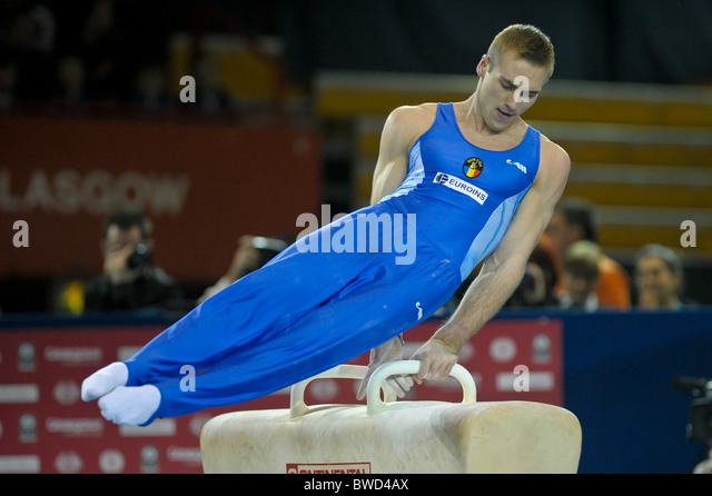 21.11.2010 Gymnastics Grand Prix from Glasgow.Buidoso of Romania - Stock Image