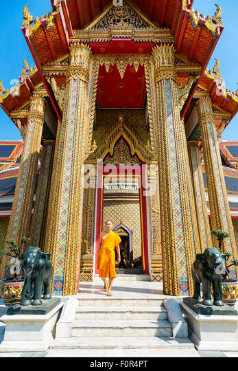 Thailand, Bangkok, Wat Ratchabophit - Stock Image