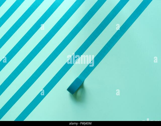 Striped Made From Adhesive Tape On Wall - Stock-Bilder