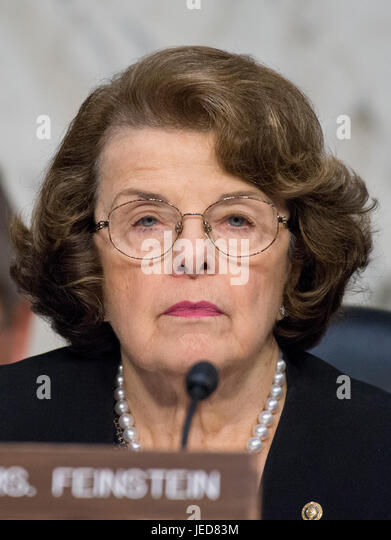 Washington, Us. 21st June, 2017. United States Senator Dianne Feinstein (Democrat of California), listens to the - Stock Image
