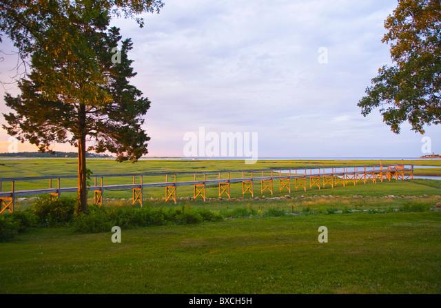 Dock at Marsh Marshfield, Massachusetts - Stock-Bilder