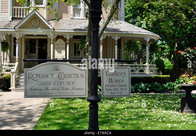 Niagara on the Lake, front walkway of the Romance collection - Stock-Bilder