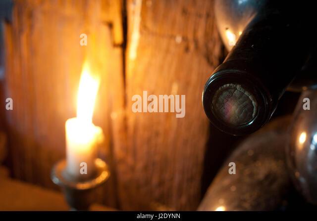 CandleLitWine6386   - Stock Image