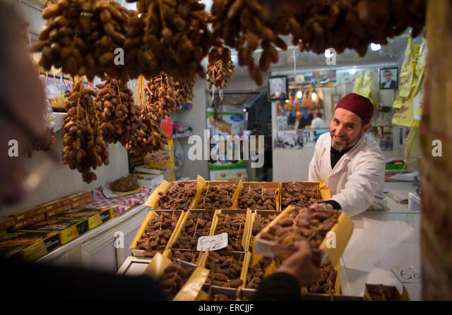 market in Algiers, Algeria - Stock Image