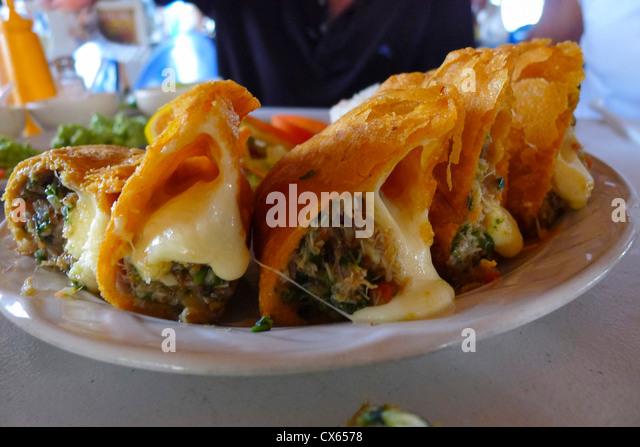 Empanada, Seafood restaurant, San Jose, Baja, Mexico - Stock Image