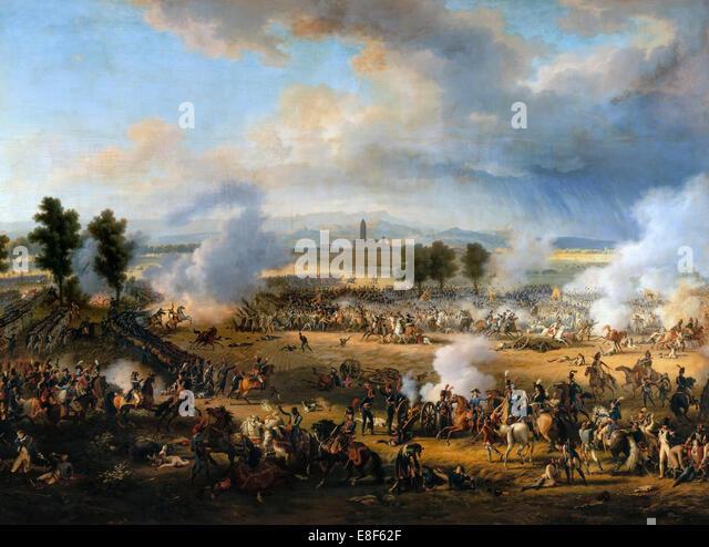 The Battle of Marengo on 14 June 1800. Artist: Lejeune, Louis-François, Baron (1775-1848) - Stock Image